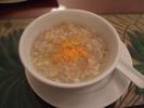 カニとホワイトアスパラのスープ